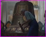 GE unringing Burmese temple bell