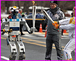 HUBO robot carrying Olympic torch