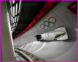 Australia men's bobsleigh team training in Pyeongchang